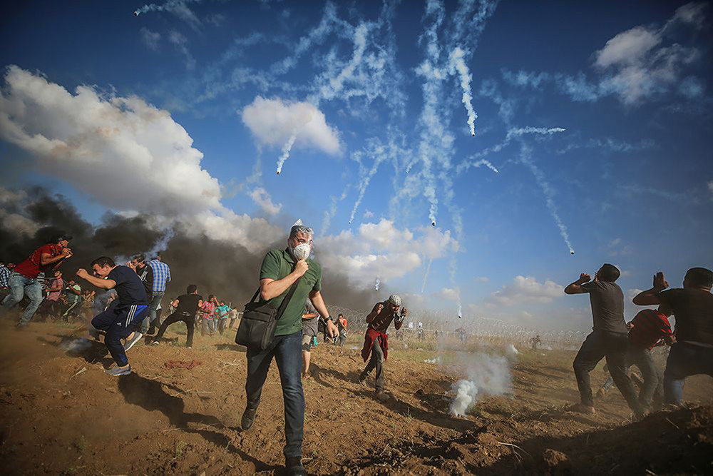 'International Photographer of the Year': Mustafa Hassona - 'Palestinian rights of return protests'