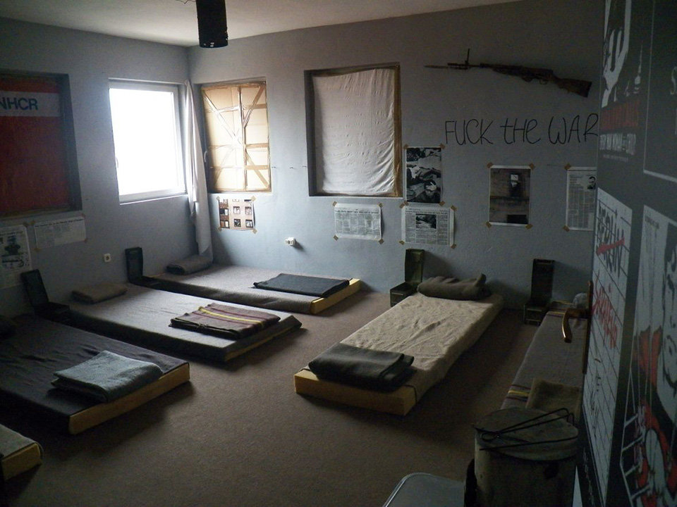 Beds-at-war-zone-themed-hostel-in-Sarajevo-Bosnia-and-Herzegovina