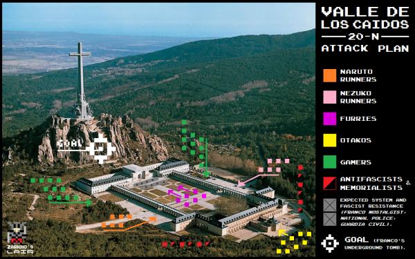 El plan de ataque para invadir el Valle de los Caídos