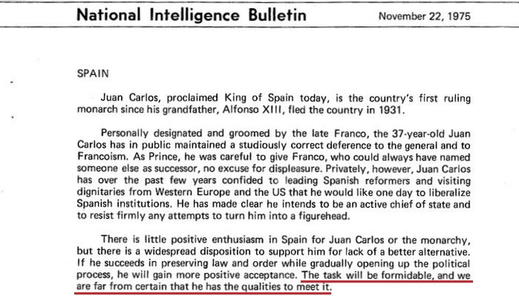 CIA Juan Carlos