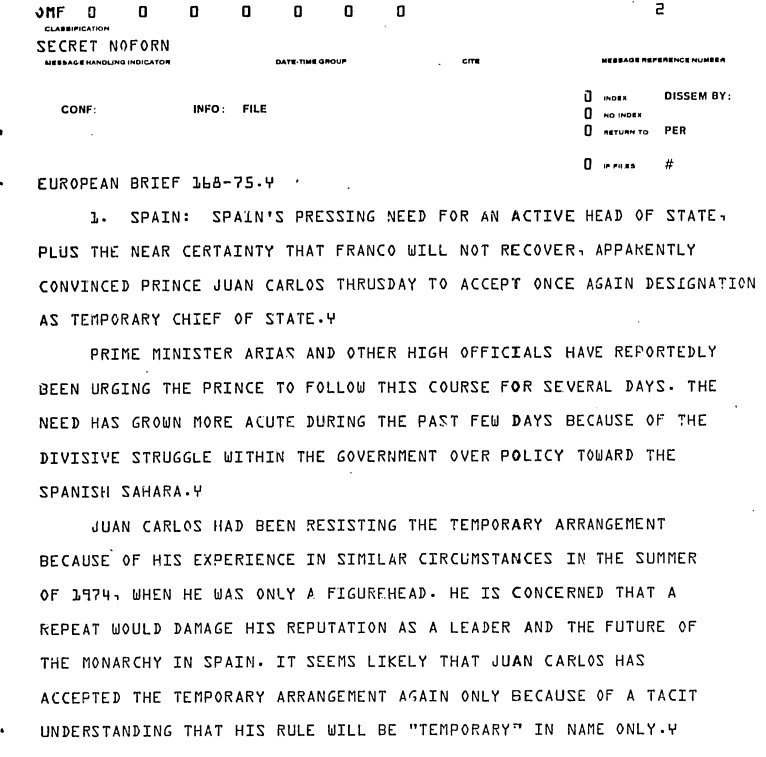 CIA- Espagne1975