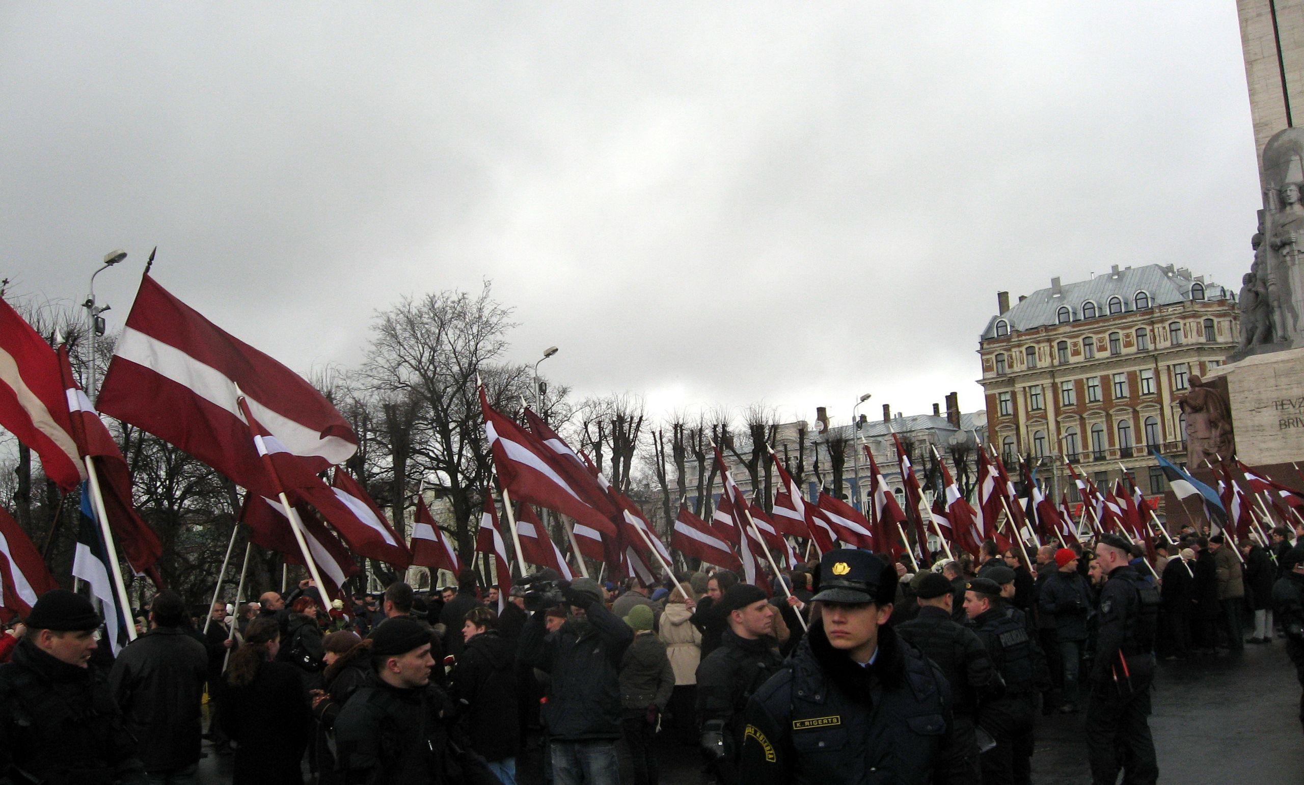 Desfile en recuerdo de la legión letona de la SS en 2008