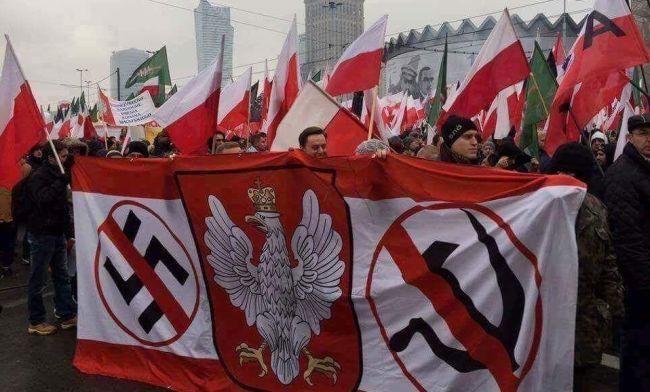 Manifestación nacionalista en Polonia