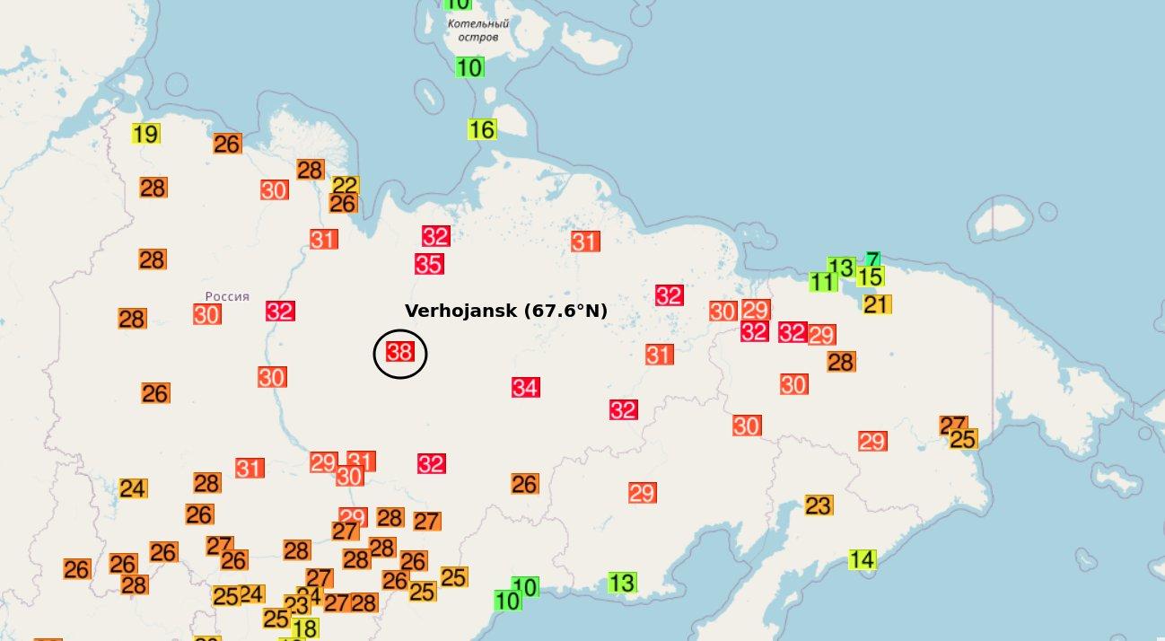 Picture of: Siberia Registra Una Temperatura Record De 38 C Infografia Del Dia Eulixe